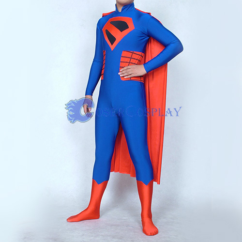 Highneck Superman Cosplay Costume Superhero Capes